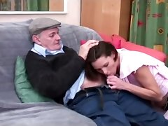 voyeur papy enjoys a sweet blowjob