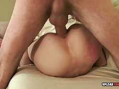 Skinny brunette and an older man fucking