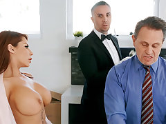 Horny servitor is ready relative to anal fuck housewife