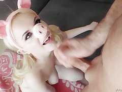Kinky pigtailed auburn gal deserves horny analfuck after uttered petting