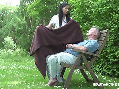 Ava Black adores outside be crazy in the collective with her old lover