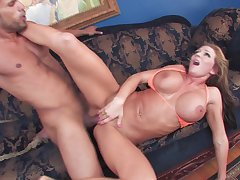 Jumping on a strong friend's penis is the favorite sport of Nikki Sexx